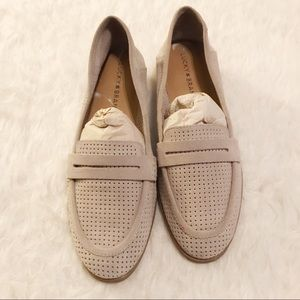 Lucky Brand Tan Caylon Suede Loafers Size 8